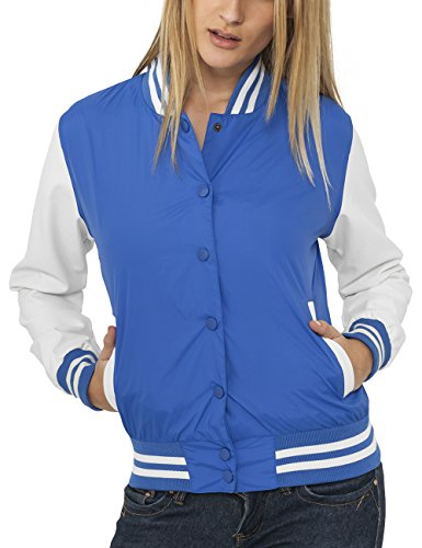 Urban Classic Ladies Light College Jacket, Giacca Donna, Blu (Blau), Large
