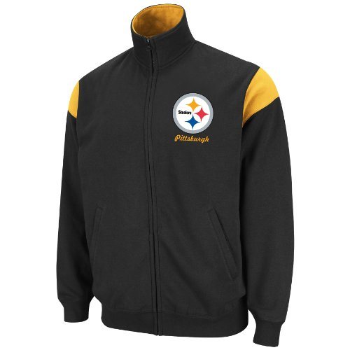 NFL Men's Pittsburgh Steelers Full Zip Track Jacket, XXX-Large at Amazon.com