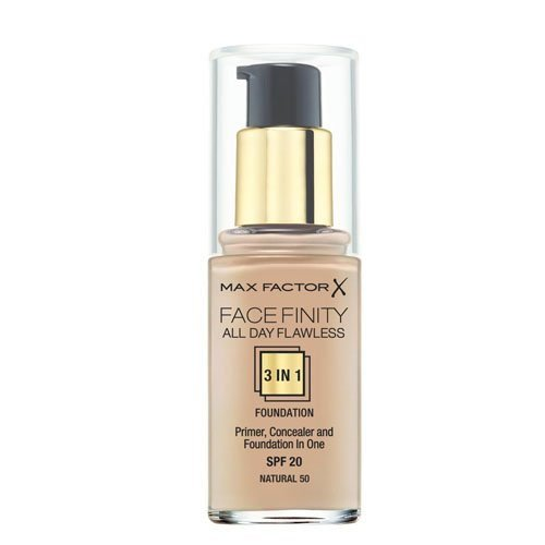 Max Factor - Fondotinta Facefinity All Day Flawless 3 in 1, n° 50 Natural