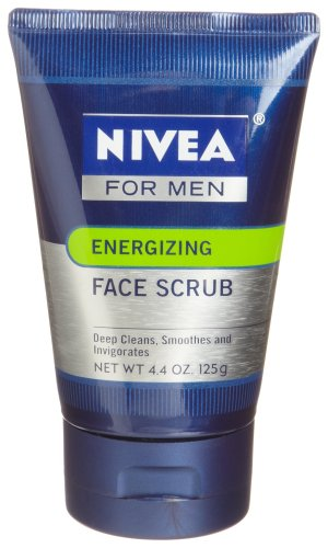 Nivea for Men Energizing Face Scrub, 4.4-Ounce Tubes (Pack of 4)