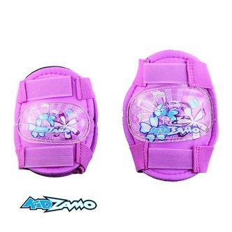 Kidzamo Protective Cycle Knee and Elbow Pad Set - Boys and Girls Sets Available (PINK FLOWERS)