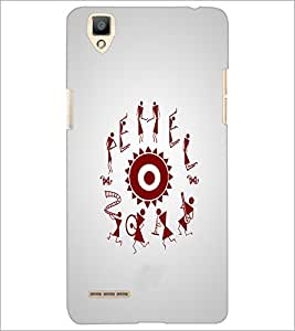 PrintDhaba Abstract Image D-4957 Back Case Cover for OPPO F1 (Multi-Coloured)