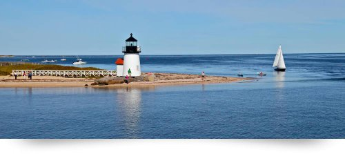 Nantucket Harbor & Brant Point Lighthouse (Giclee Art Print), Christopher Seufert front-950939