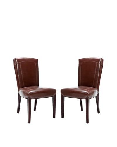 Safavieh Set of 2 Ken Side Chairs, Brown