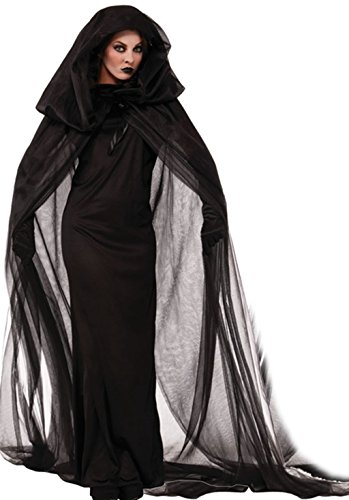 [NonEcho Women Black Witch Halloween Costume for Adults 2Pc Black] (Plus Size Adult Halloween Costumes Ideas)