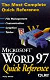 img - for Microsoft Word 97 Quick Reference (Que Quick Reference Series) book / textbook / text book