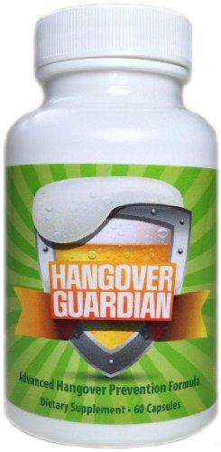 Hangover Guardian: Advanced Hangover Pills w/Activated Charcoal, Cysteine, COQ10, & B Complex Vitamin Formula (60 Capsules)