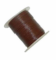 Rockin Beads 1mm Buffalo Leather Round Cord 25 Yards Brown 1mm