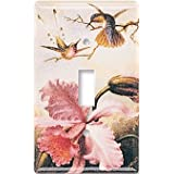 Orchids & Hummingbirds Decorative Switch Plate