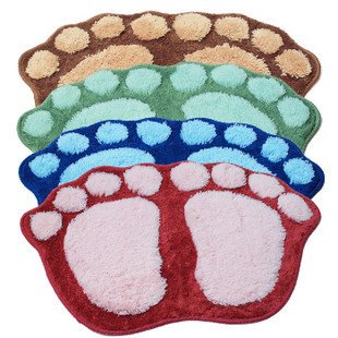 Domire Big Feet Fuzzy Cushion Mat Pad Bedroom Decoration Indoor Rug Non-slip Bath Area Rug Pad (Blue)