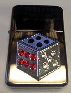 Vector KGM Thunderbird Crystal Emblem Lighter - Dice Gambling Craps Sparkle Black