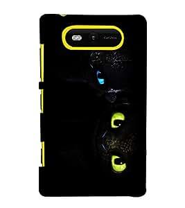 printtech Disney Toothless Eyes Back Case Cover for Nokia Lumia 820::Microsoft Lumia 820