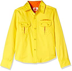 UFO Boys' Shirt (AW16-WB-BKT-232_Yellow_14 - 15 years)