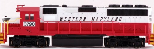 Bachmann EMD GP40 Western Maryland 3796 (Red, White and Black) Locomotive HO Scale, DCC On-Board