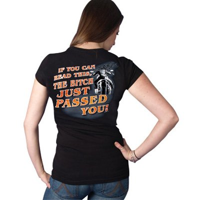 Hot Leathers Just Passed You Ladies T-Shirt Ladies Medium Black