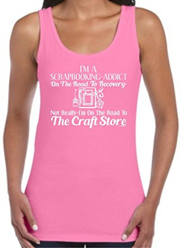 Scrapbook Addict On The Road To Recovery Craft Store Juniors Tank Top Medium Azalea