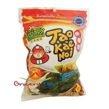 Tao Kae Noi Seaweed Hot And Spicy Flavor (2 Packs)
