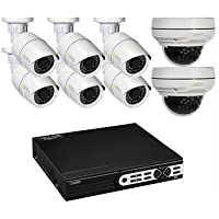 Q-See 16-Channel 6 HD 1080p IP Bullet Cameras and 2 HD 1080p IP Dome Cameras Smart Security System