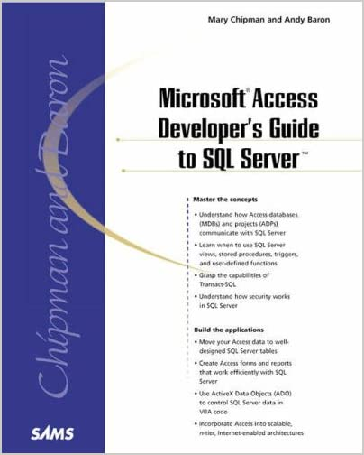 Microsoft Access Developer's Guide to SQL Server