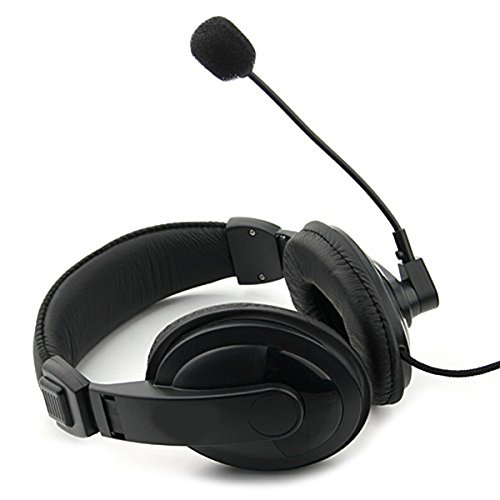 Kanen Headset KM-750MV Kopfhörer 3,5mm Klinke PC Skype Teamspeak schwarz