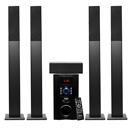 Why Choose Frisby FS-6500BT Tower 5.1 Surround Sound Home Theater Speakers System with Bluetooth USB...