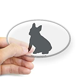 French Bulldog Silhouette Oval Sticker Sticker Oval by CafePress - Clear
