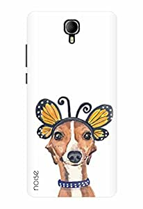 Noise Intex Aqua Star 2 Designer Printed Case / Cover for Intex Aqua Star II / Animated Cartoons / Dog And Butterfly