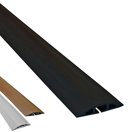 d 2 low profile rubber duct cord cover length 5ft color black. Black Bedroom Furniture Sets. Home Design Ideas