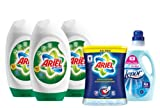 Ariel Excel Gel 3 x 24 Wash + Lenor 83 Wash Fabric Softener + Ariel Stain Remover 1.5kg laundry Collection