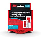3M Interior Transparent Weather Sealing Tape, 1.5-Inch by 10-Yard(2Pack)