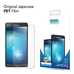 Samsung Note 4 Papa Protect HD Clear Screen Protector | Pack of 3 Film Protectors | Original Japanese PET Film | True Touch | Perfect Fit | Scratch Protection | Unmatched Clarity | Bubble Free Application | Lifetime Warranty