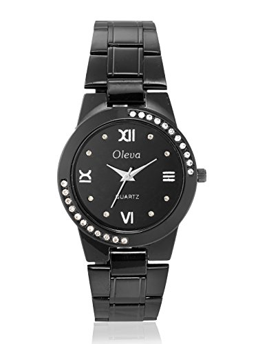 Oleva Women Fashion Black Dial Black Metal Analog Watch OSW-30 BLACK