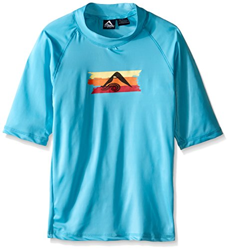 Kanu Surf Big Boys Echo Upf 50+ Sun Protective Rashguards Aqua 14/16