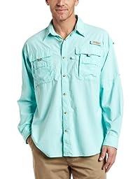 Columbia Men\'s Bahama II Long Sleeve Shirt, Gulf Stream, Large