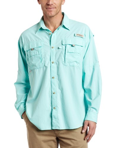 Columbia Men's Bahama II Long Sleeve Shirt, Gulf