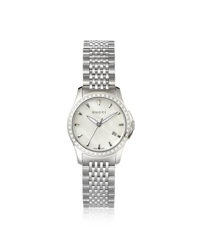 Gucci Women's YA126506 Stainless Steel/White Watch