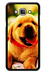 """Humor Gang Cute Pup Happy Printed Designer Mobile Back Cover For """"Samsung Galaxy A8"""" (3D, Glossy, Premium Quality Snap On Case)"""