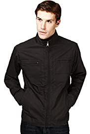 Autograph Pure Cotton Funnel Neck Jacket with Stormwear™