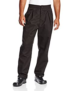 Chef Revival P017BK Poly Cotton Executive Pant with 2 Side and 1 Rear Pockets, 3X-Large, Black