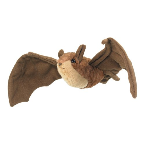 "8"" Brown Bat Plush Stuffed Animal Toy - 1"