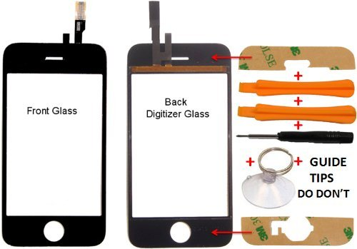 Replacement Apple Iphone 3gs Cracked Lcd Glass 