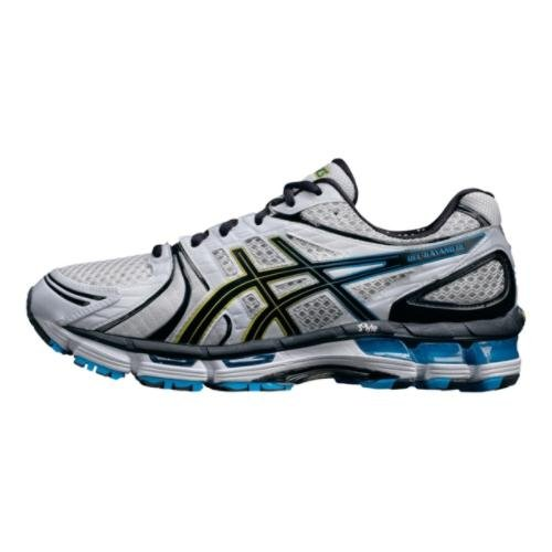 ASICS ASICS Men's GEL-Kayano 18 Running Shoe,White/Black/Hot Blue,10.5 M US