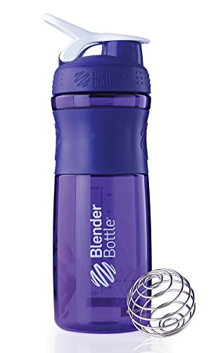 Blenderbottle Sportmixer 28-Ounce, Purple/White back-249227