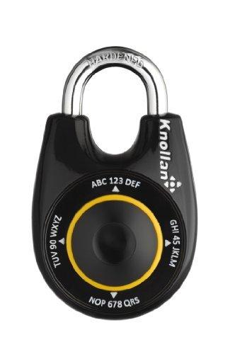 【並行輸入品】Knollan Saly Dance Premium Combination Lock for Outdoor Use Fast Opening Unlimited Password Length Opening in the Dark - Black Color