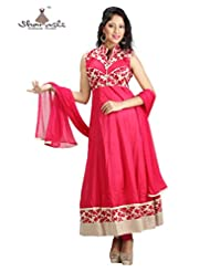 SHARMILI WOMEN'S COTTON-MALMAL SALWAR SUIT WITH ALL-OVER EMBROIDERY