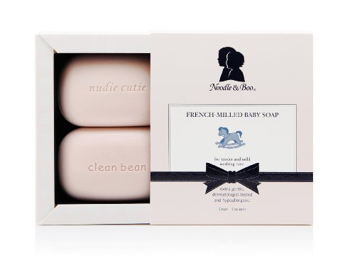 Noodle & Boo French-Milled Baby Soap, Two 3-Ounce Bars (Pack of 2)