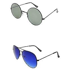 Benour BENCOM007 Combo Unisex Sunglasses