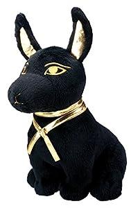 Black and Gold Anubis Dog Puppy Egyptian Stuffed Plush Doll