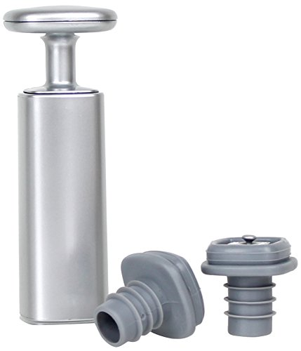 Rabbit Wine Preserver with Two Vacuum Stoppers (Silver) (Metrokane Vacuum compare prices)