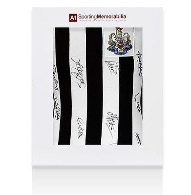 Newcastle Signed Shirt 1969 Fairs Cup Winners - Gift Box Autograph Jersey - Autographed Soccer Jerseys